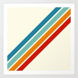 Alator - Classic 70s Retro Summer Stripes Art Print