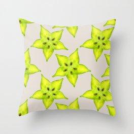 Starfruit Throw Pillow