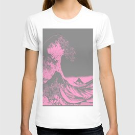 The Great Wave Pink & Gray T-shirt