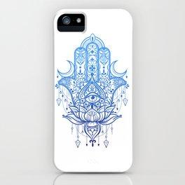 Hamsa Lotus Hand iPhone Case