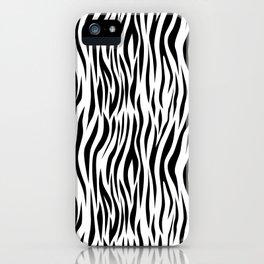 Zebra skin pattern design iPhone Case