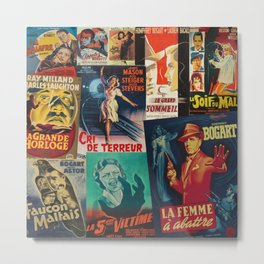 French Film Noir Metal Print