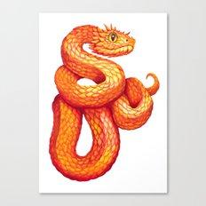 Golden eyelash viper Canvas Print