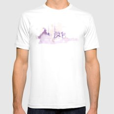 Watercolor landscape illustration_Istanbul Mens Fitted Tee MEDIUM White