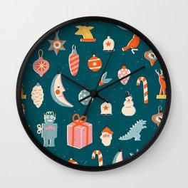 Christmas vintage toys Wall Clock