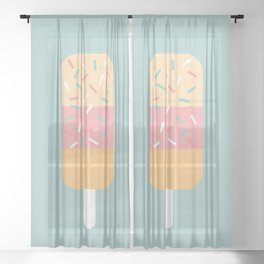 Popsicle (Mint) Sheer Curtain