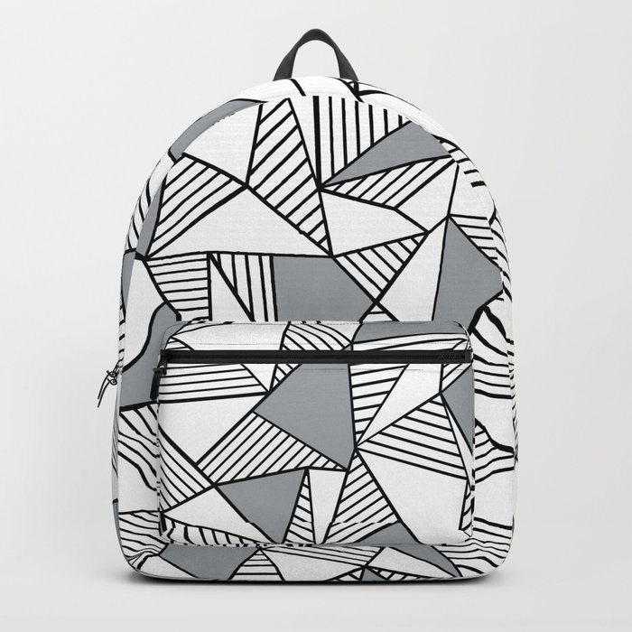 Abstract Lines With Grey Blocks Backpack