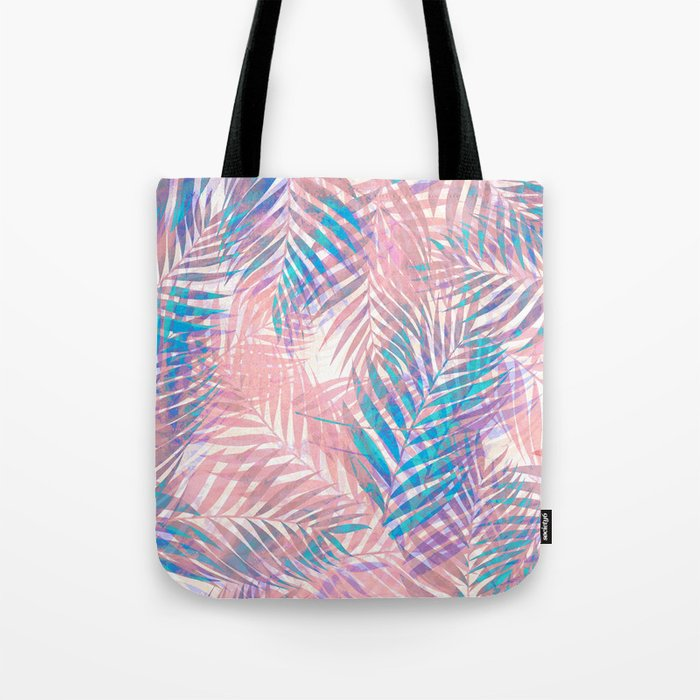 Palm Leaves - Iridescent Pastel Tote Bag