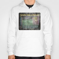 periodic table Hoodies featuring Old School Periodic Table Of Elements - Chalkboard Style by Mark E Tisdale