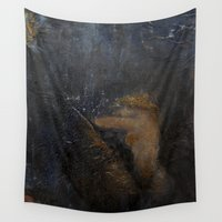 imagerybydianna Wall Tapestries featuring nautila by Imagery by dianna
