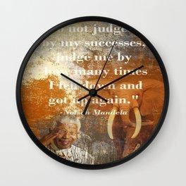 Mandela 2 Wall Clock