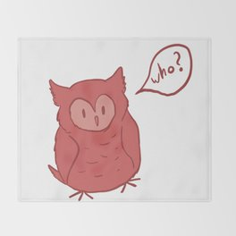 Fluffy Red Owl Throw Blanket