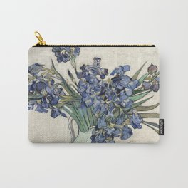Vase with Irises Carry-All Pouch