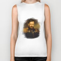replaceface Biker Tanks featuring Ricky Gervais - replaceface by replaceface