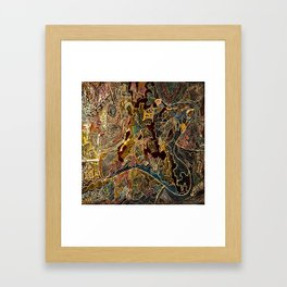 A Country Somewhere. Framed Art Print
