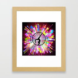 rainbow star gymnast Framed Art Print