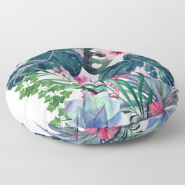 Tropical Plants Floor Pillow