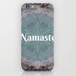 Ocean Nature Art Namaste photograph coastal decor, yoga studio art yogi iPhone Case