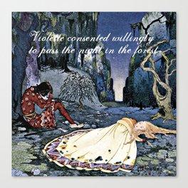 French Fairy Tales ~ Violette ~ Bookish Decor Canvas Print