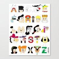 Child of the 60s Alphabet Canvas Print