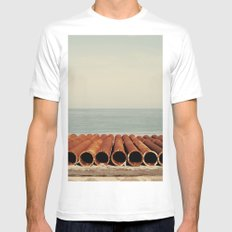 Ocean Mens Fitted Tee White MEDIUM