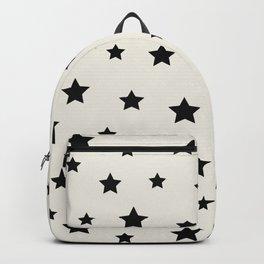 Star Pattern - Black & White Backpack