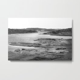 Stormy weather over Burning Island Metal Print