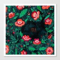 folk Canvas Prints featuring Folk by Plantus Marina