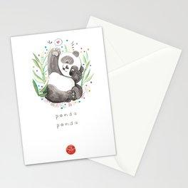 Panda Nursery Illustration Stationery Cards