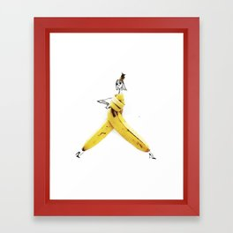 Edible Ensembles: Banana Framed Art Print
