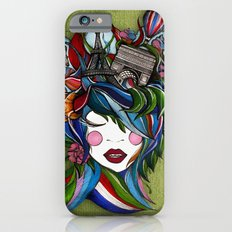 Paris girl in green iPhone 6s Slim Case