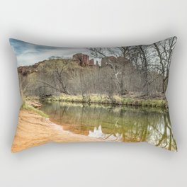 Cathedral Rock from Red Rock Crossing Rectangular Pillow