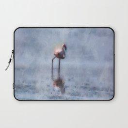 Solitary Flamingo Watercolor Laptop Sleeve