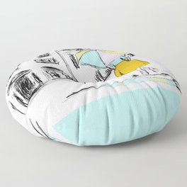 Spring Showers Floor Pillow