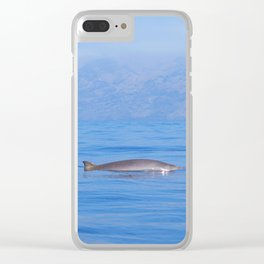 Beaked whale in the mist Clear iPhone Case