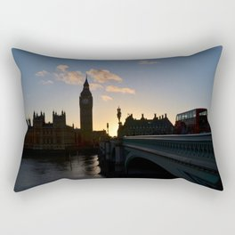 London Sunset Silhouette Rectangular Pillow