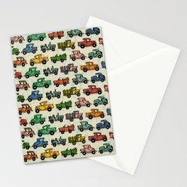 Old Timey Cars Stationery Cards