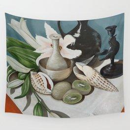 Kiwi fruit & Lillies Wall Tapestry