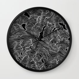 Inverted Enveloping Lines Wall Clock
