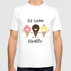 Ice cream Equality (reloaded) Mens Fitted Tee White SMALL