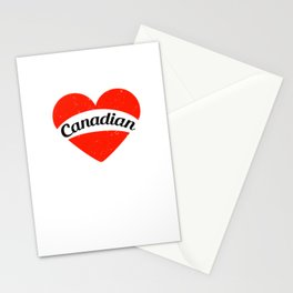I'm in love with a canadian | Big heart and banner Stationery Cards