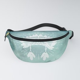Your Vibe Attracts Your Tribe - Starry Forest Night Fanny Pack