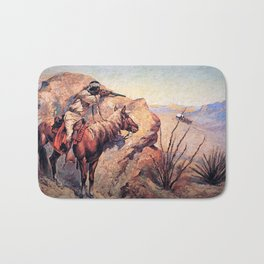 "Frederic Remington Western Art ""Apache Ambush"" Bath Mat"