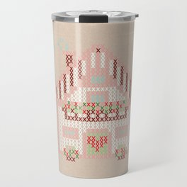 Cute little house cross stitch Travel Mug