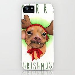 Chrismas Card - Merry Chrishmush  iPhone Case