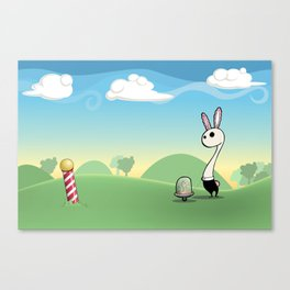 Am I Late? Canvas Print