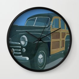 Woody Wall Clock