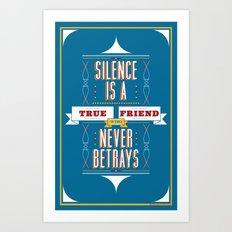 Silence Is Art Print