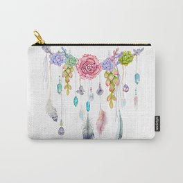 Spirit Gazer With Crystals And Succulents Carry-All Pouch