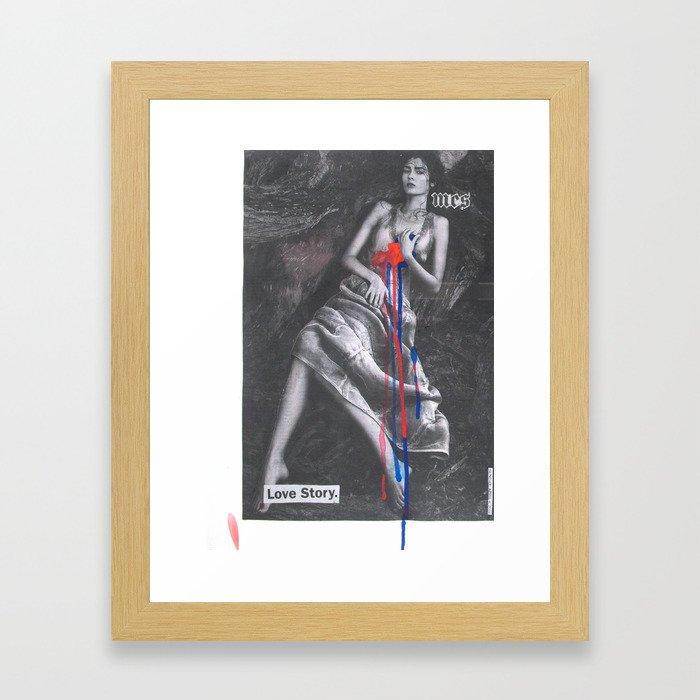 Love Story Framed Art Print